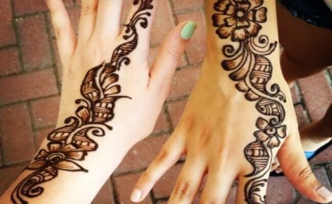 Flowers and swirls Arabic designs
