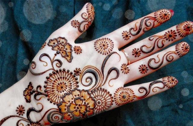 Flowers henna designs 2019