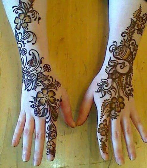 Flowers henna designs