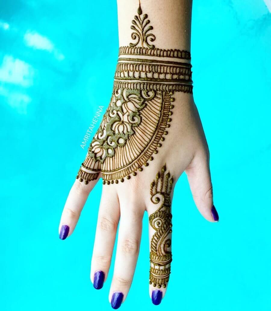 Sheer elegance with lotus motifs