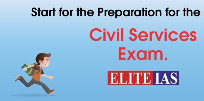 start for the preparation for the Civil Services Exam