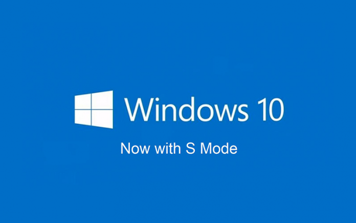 what is windows 10 s mode