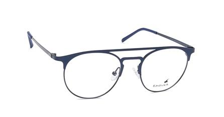 Blue Round Rimmed Eyeglasses